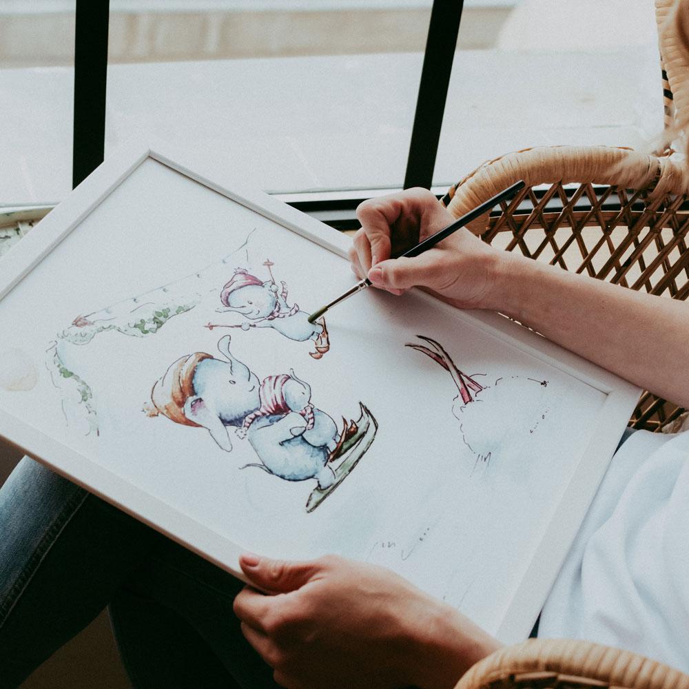 egyedi festmények, faliképek rendelése babaszobába, gyerekszobába, nászajándékba - mARTás