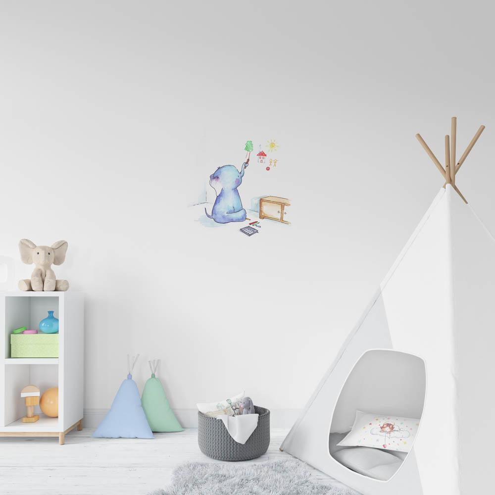 falra rajzoló kiselefánt falmatrica mARTás