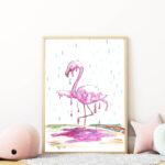flamingós falikép gyerekszobába mARTás