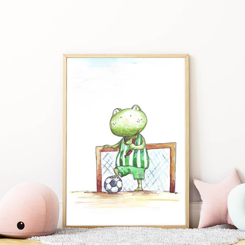 fradis békás falikép gyerekszobába mARTás