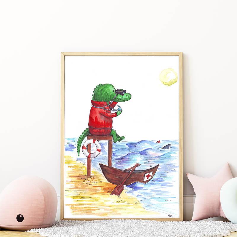krokodilos falikép gyerekszobába mARTás