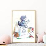 mosómedvés falikép gyerekszobába mARTás