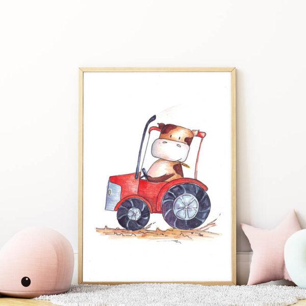 traktoros boci falikép gyerekszobába mARTás
