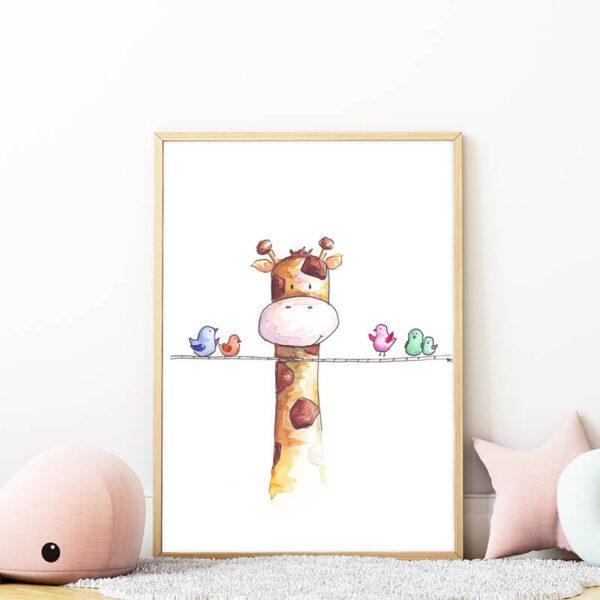 Trollkodó zsiráf falikép gyerekszobába mARTás
