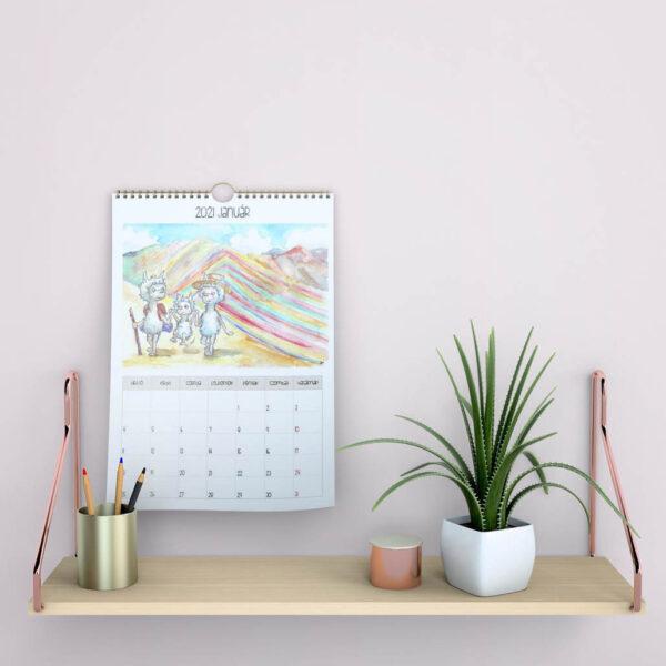 2021-es falra akasztható naptár mARTás naptárbelső