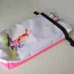 vízhatlan tároló zsák nyuszival rózsaszín mARTás