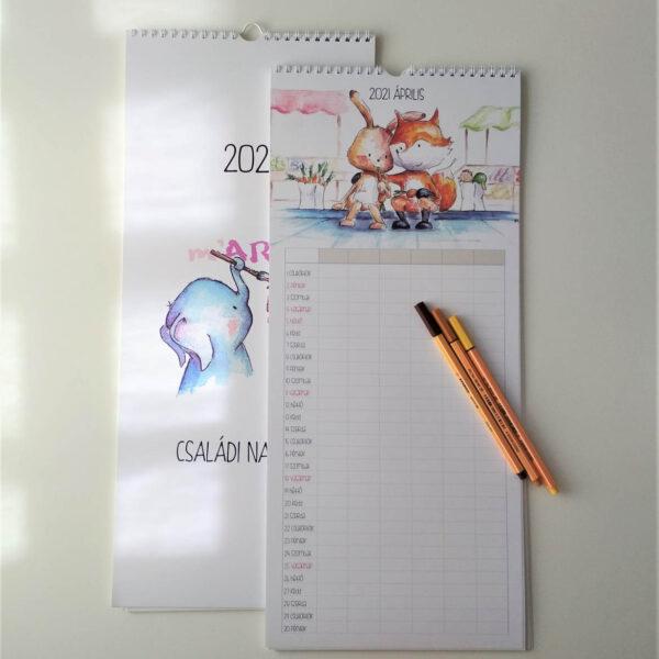 családi tervező naptár mARTás